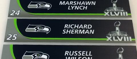Seahawks Nameplates